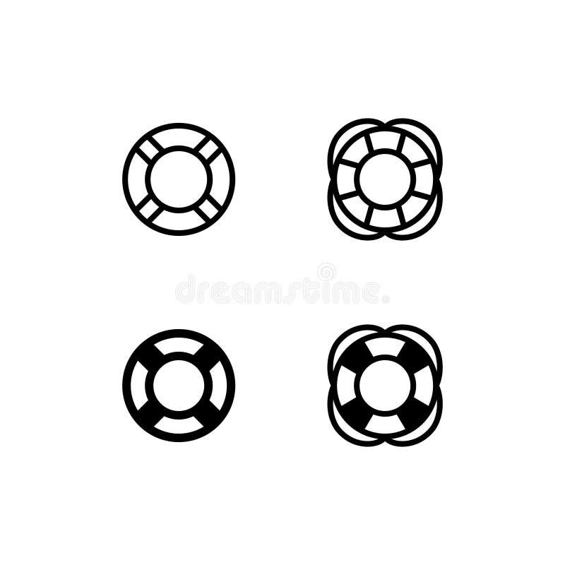 Διανυσματικό σύμβολο λογότυπων εικονιδίων Lifebuoy Εικονίδιο Lifeguard που απομονώνεται στο άσπρο υπόβαθρο απεικόνιση αποθεμάτων
