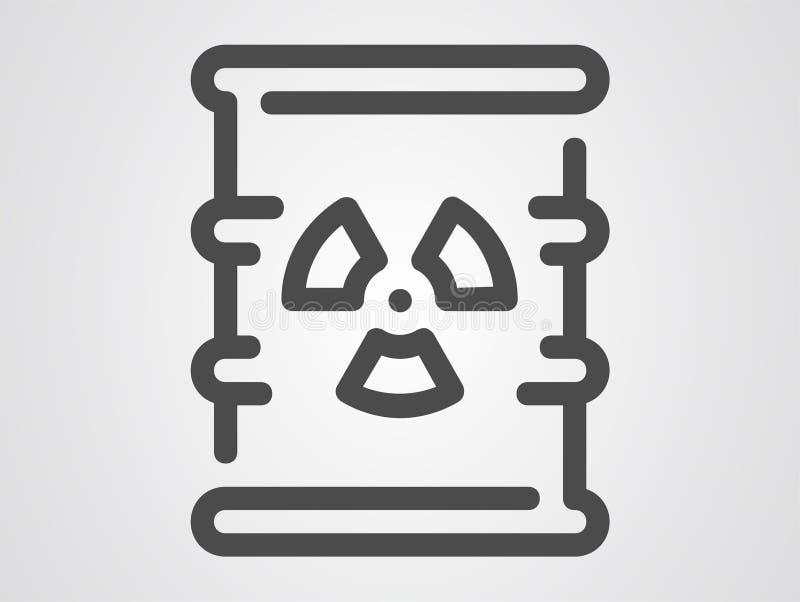 Διανυσματικό σύμβολο σημαδιών εικονιδίων αποβλήτων απεικόνιση αποθεμάτων