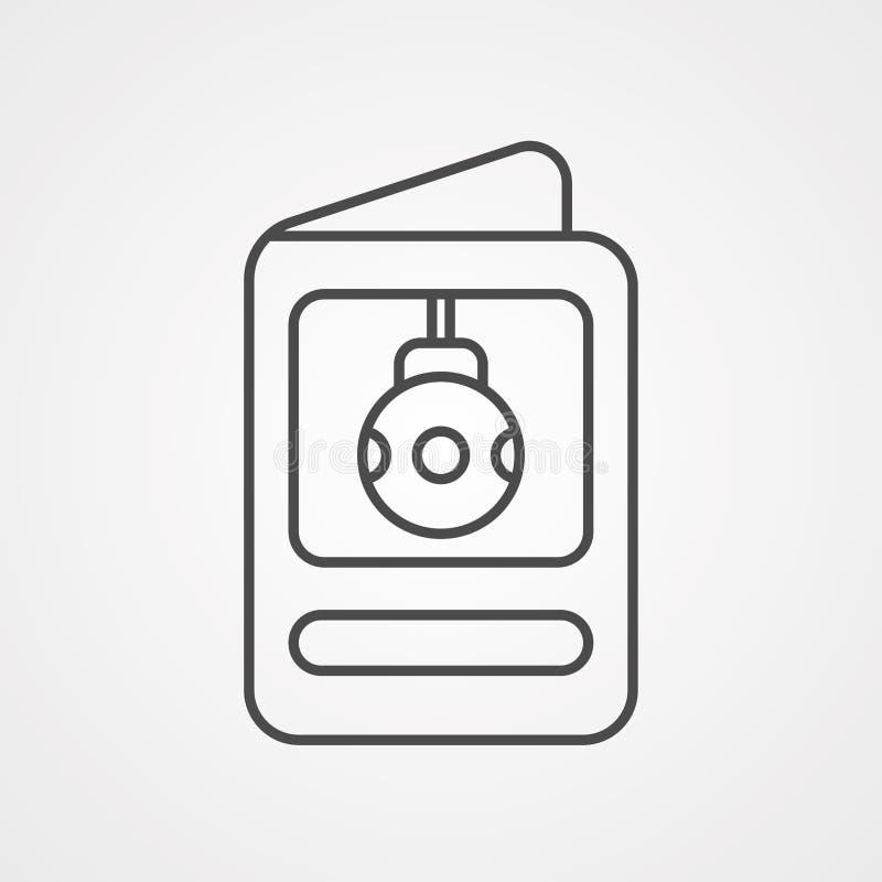 Διανυσματικό σύμβολο σημαδιών εικονιδίων καρτών ελεύθερη απεικόνιση δικαιώματος
