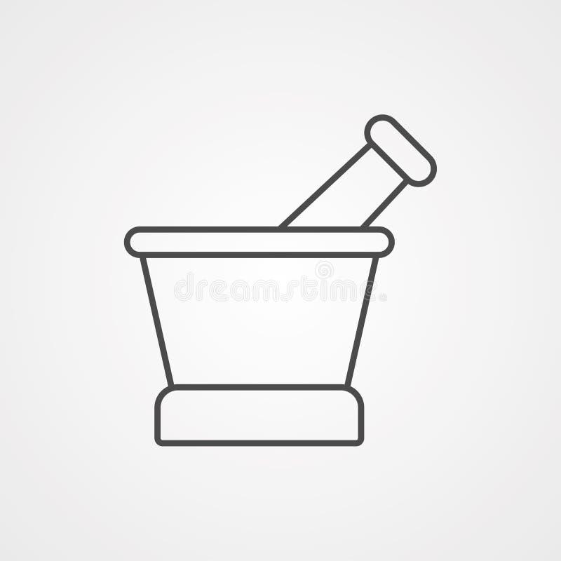 Διανυσματικό σύμβολο σημαδιών εικονιδίων κονιάματος ελεύθερη απεικόνιση δικαιώματος