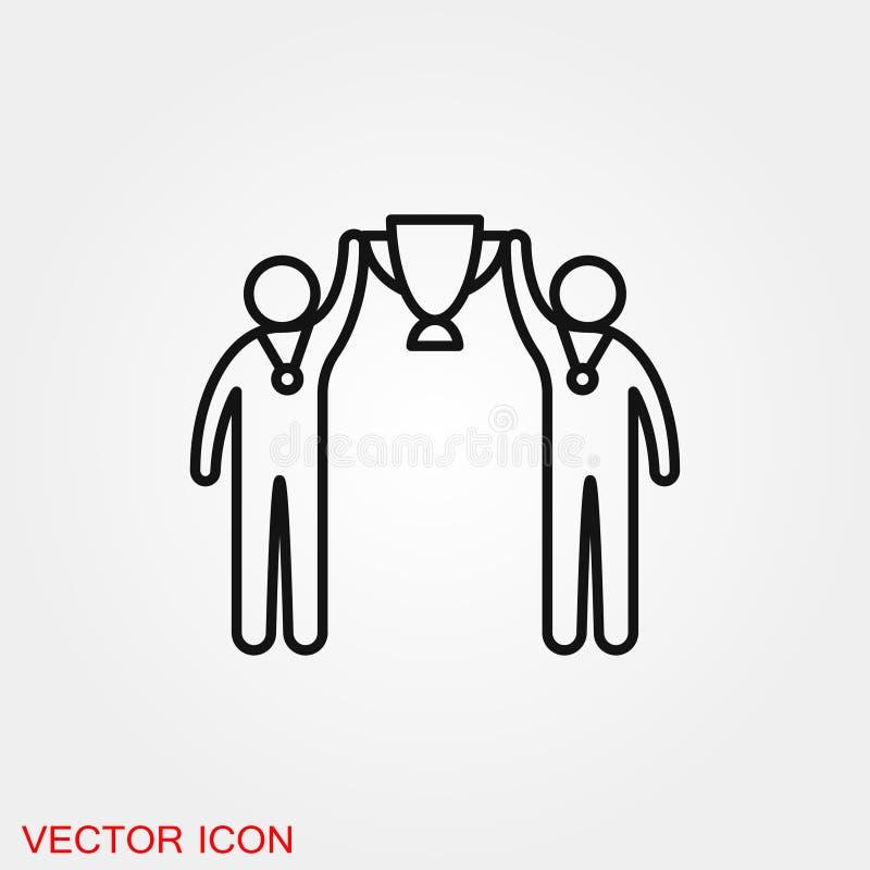 Διανυσματικό σύμβολο σημαδιών εικονιδίων ομάδας για το σχέδιο απεικόνιση αποθεμάτων