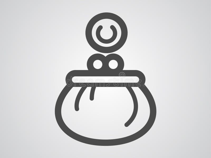 Διανυσματικό σύμβολο σημαδιών εικονιδίων πορτοφολιών απεικόνιση αποθεμάτων