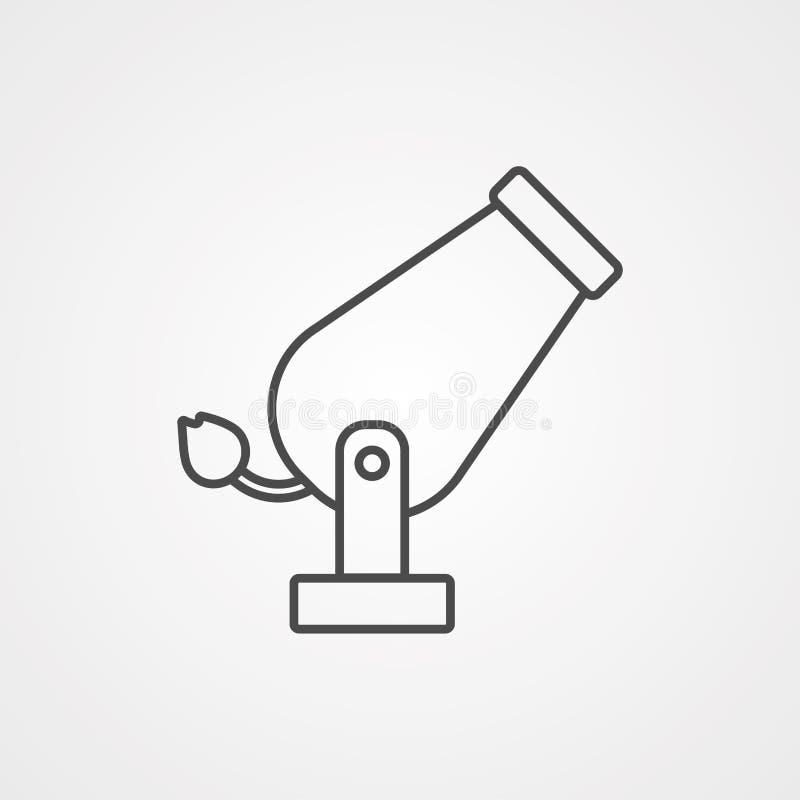 Διανυσματικό σύμβολο σημαδιών εικονιδίων πυροβόλων ελεύθερη απεικόνιση δικαιώματος