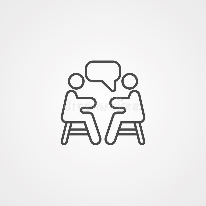 Διανυσματικό σύμβολο σημαδιών εικονιδίων συνεδρίασης διανυσματική απεικόνιση