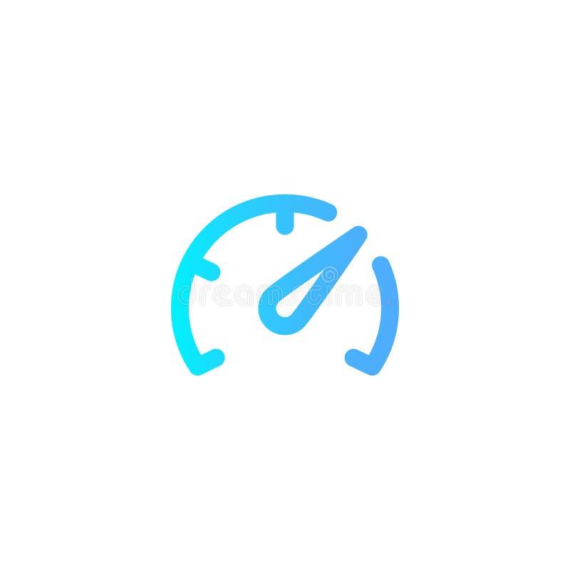 Διανυσματικό σύμβολο σημαδιών εικονιδίων ταχυμέτρων διανυσματική απεικόνιση