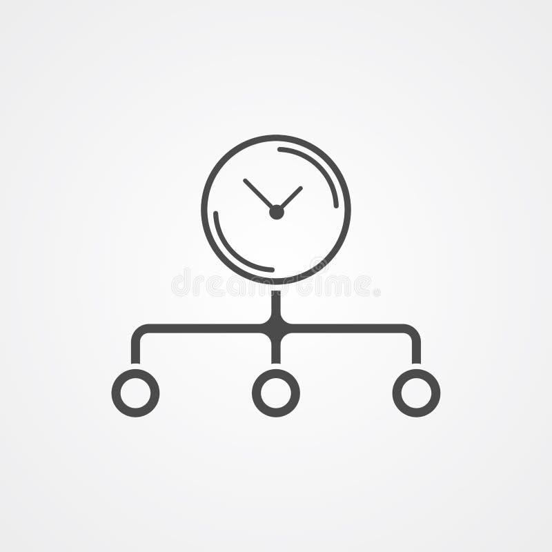 Διανυσματικό σύμβολο σημαδιών εικονιδίων χρονικής διαχείρισης απεικόνιση αποθεμάτων