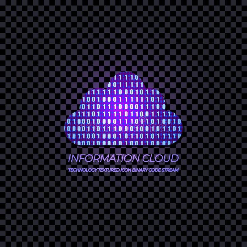 Διανυσματικό σύννεφο πληροφοριών καταστημάτων στοιχείων, που λάμπει στη σκοτεινή διαφανή απεικόνιση υποβάθρου διανυσματική απεικόνιση