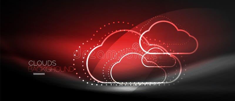 Διανυσματικό σύννεφο που υπολογίζει, έννοια αποθήκευσης ελεύθερη απεικόνιση δικαιώματος