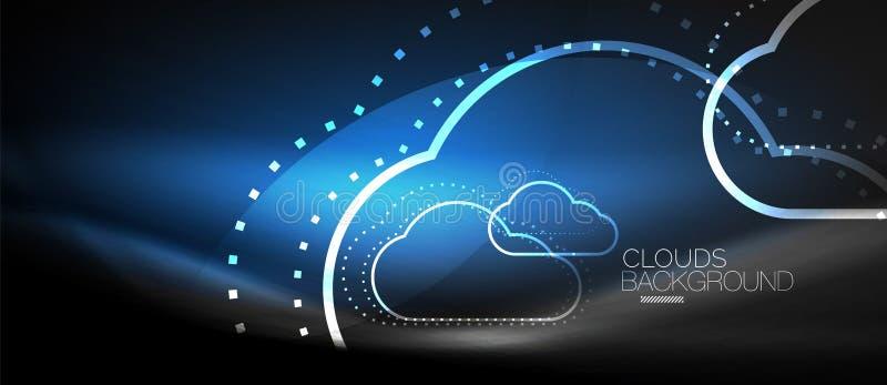 Διανυσματικό σύννεφο που υπολογίζει, έννοια αποθήκευσης απεικόνιση αποθεμάτων