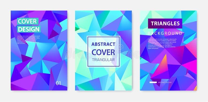 Διανυσματικό σύνολο αφηρημένων γεωμετρικών καλύψεων, εμβλήματα, αφίσες, ιπτάμενα, φυλλάδια Επιφάνεια πλαισίων κειμένων a4 σχέδιο  διανυσματική απεικόνιση