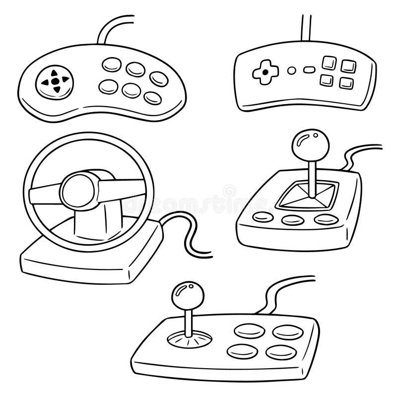 Διανυσματικό σύνολο ελεγκτή παιχνιδιών διανυσματική απεικόνιση