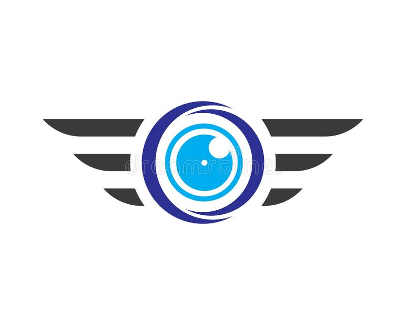 Διανυσματικό σύνολο λογότυπων κηφήνων που απομονώνεται στο υπόβαθρο για το κατάστημα, λογότυπο υπηρεσιών κηφήνων, πετώντας ετικέτ απεικόνιση αποθεμάτων