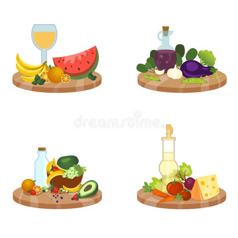 Διανυσματικό σύνολο πιάτων στοκ εικόνα με δικαίωμα ελεύθερης χρήσης
