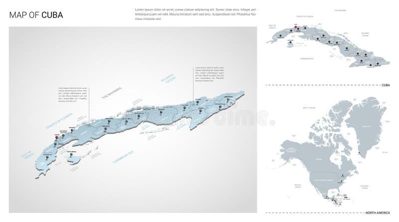 Διανυσματικό σύνολο χώρας της Κούβας ελεύθερη απεικόνιση δικαιώματος