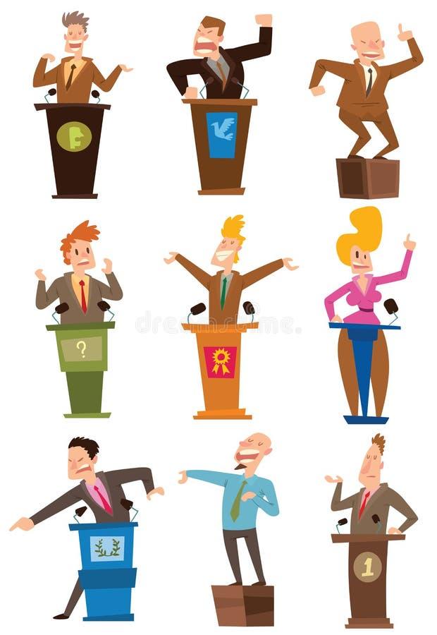 Διανυσματικό σύνολο ανθρώπων πολιτικών απεικόνιση αποθεμάτων