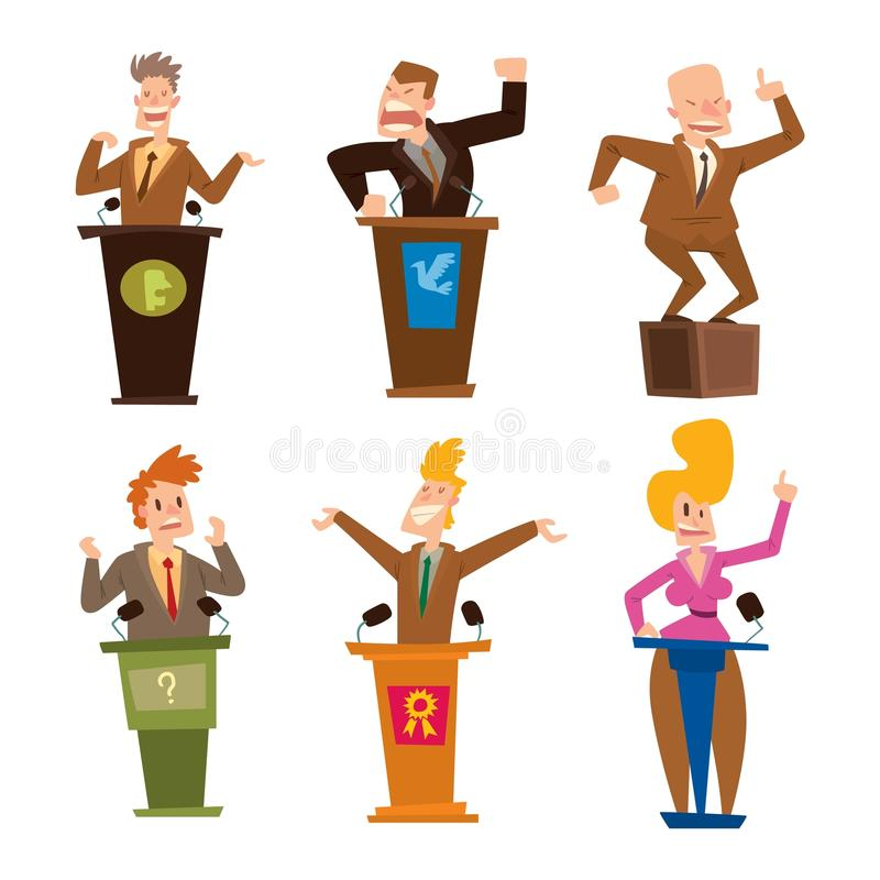 Διανυσματικό σύνολο ανθρώπων πολιτικών διανυσματική απεικόνιση