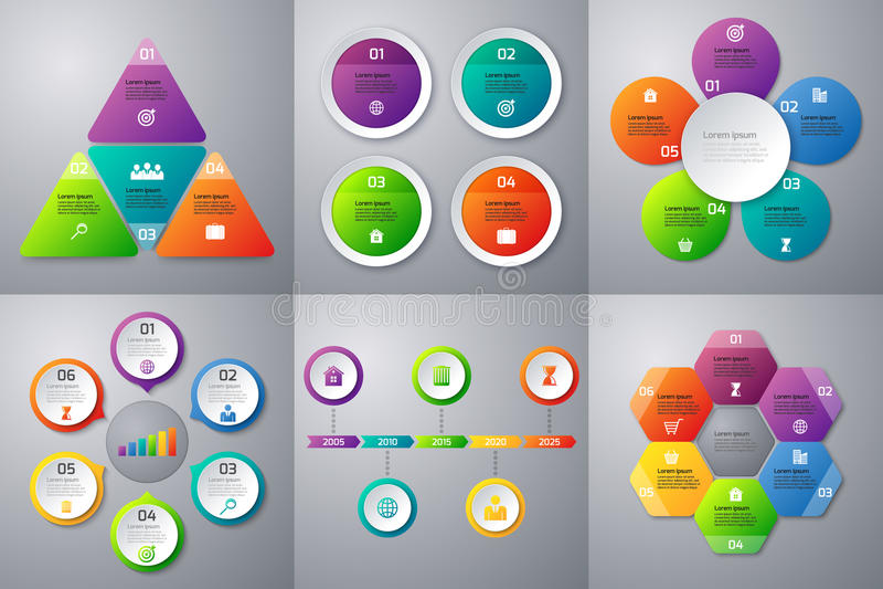 Διανυσματικό σύνολο αποθεμάτων infographics διανυσματική απεικόνιση