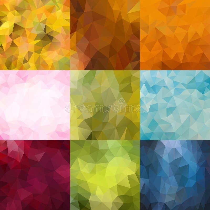 Διανυσματικό σύνολο αφηρημένων υποβάθρων φύσης χρώματος ελεύθερη απεικόνιση δικαιώματος