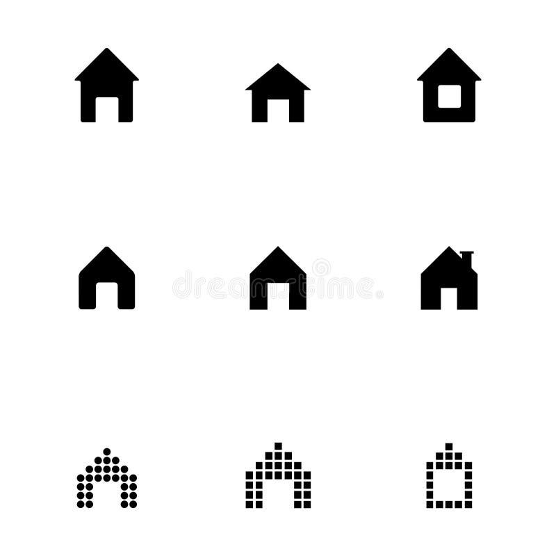 Διανυσματικό σύνολο εγχώριων εικονιδίων διανυσματική απεικόνιση