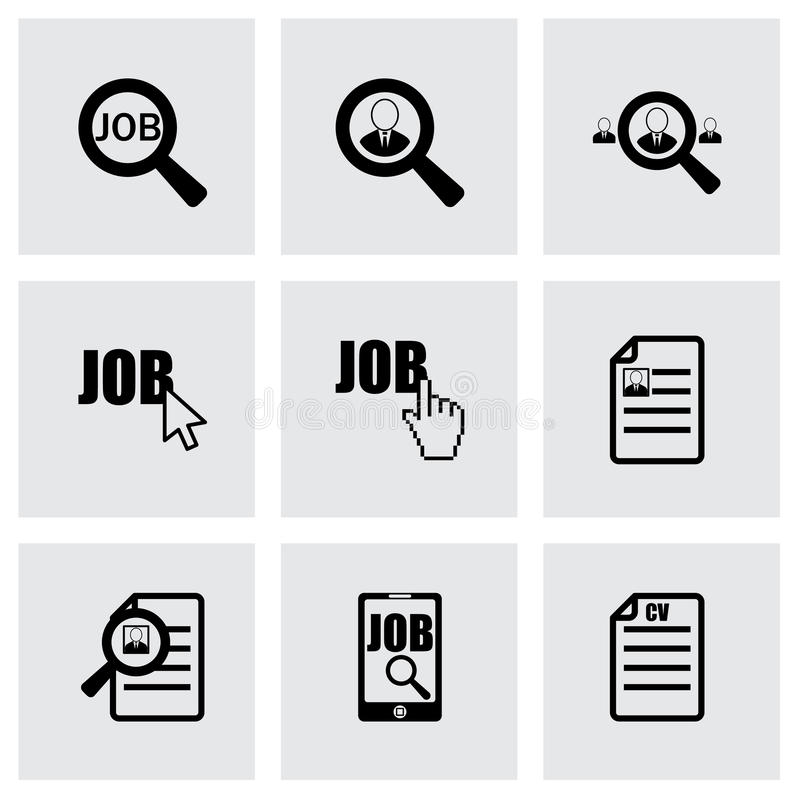 Διανυσματικό σύνολο εικονιδίων αναζήτησης εργασίας απεικόνιση αποθεμάτων