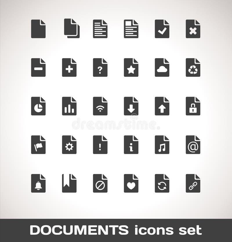 Διανυσματικό σύνολο εικονιδίων εγγράφων ελεύθερη απεικόνιση δικαιώματος
