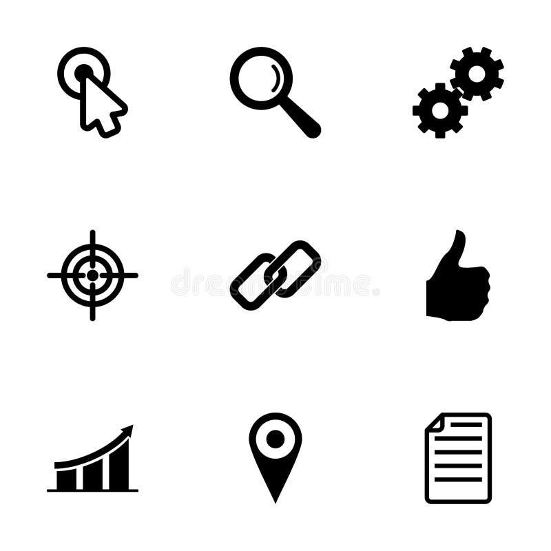 Διανυσματικό σύνολο εικονιδίων seo απεικόνιση αποθεμάτων