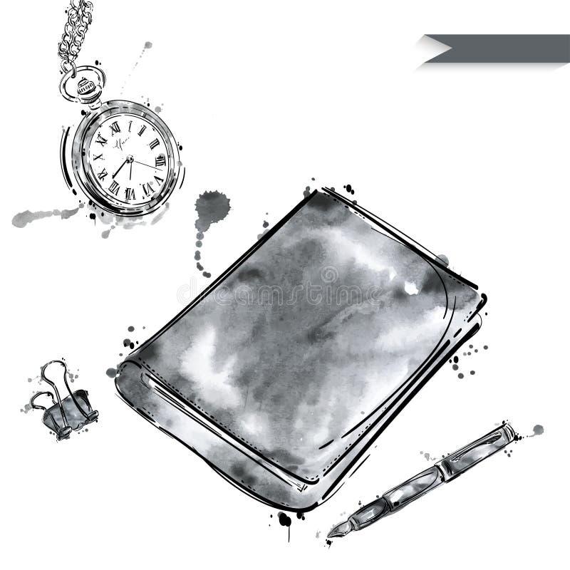 Διανυσματικό σύνολο εργαλείων Απομονώστε στην άσπρη ανασκόπηση διανυσματική απεικόνιση
