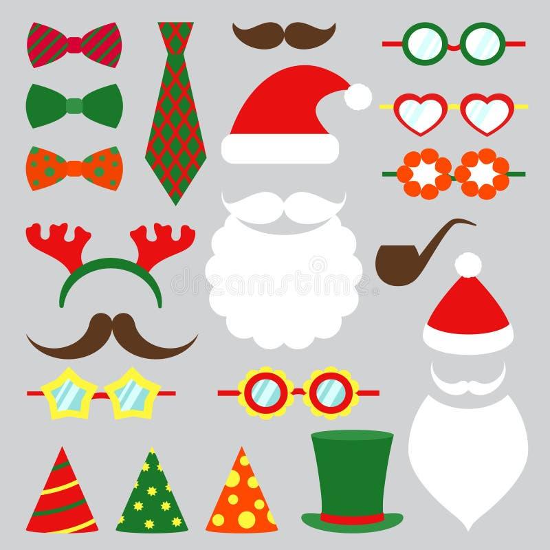 Διανυσματικό σύνολο θαλάμων φωτογραφιών Χριστουγέννων απεικόνιση αποθεμάτων