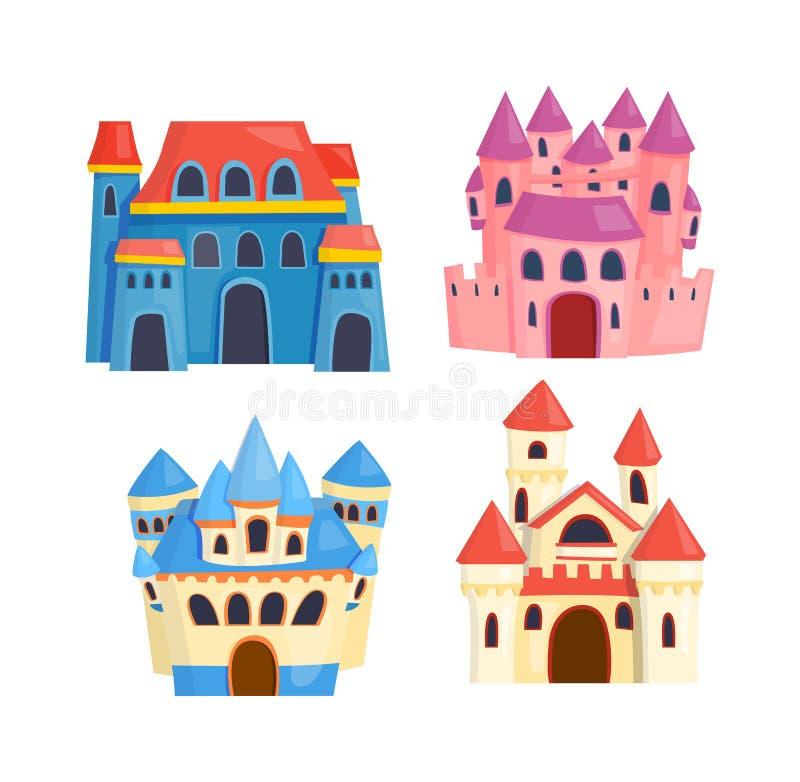 Διανυσματικό σύνολο κινούμενων σχεδίων του Castle απεικόνιση αποθεμάτων