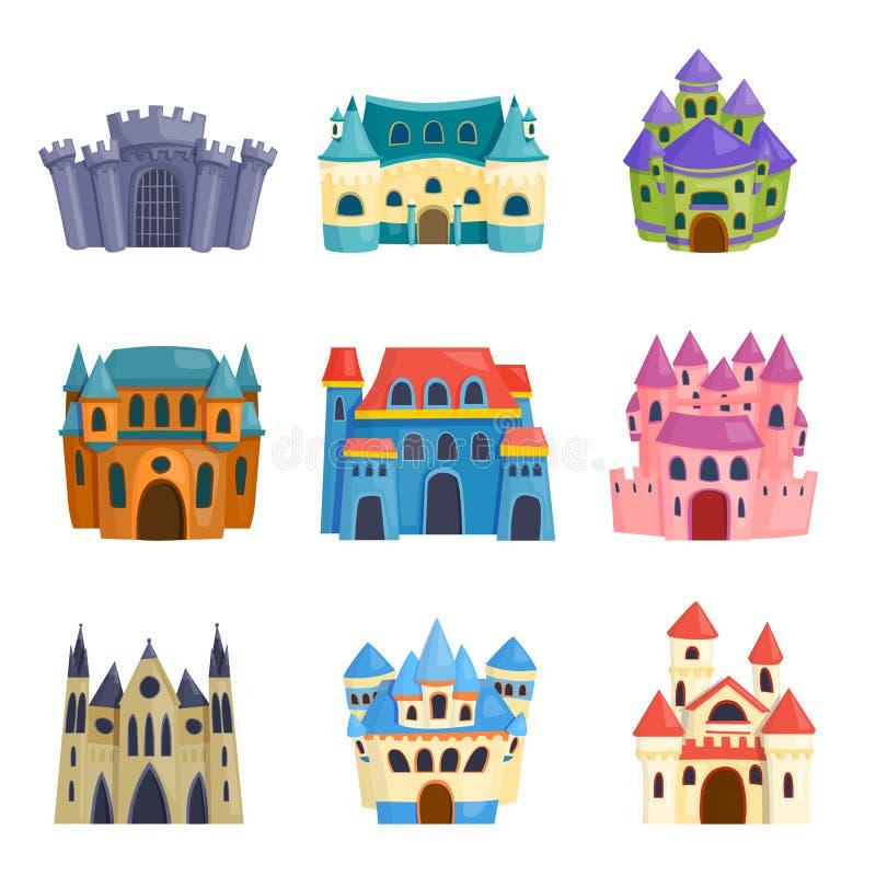 Διανυσματικό σύνολο κινούμενων σχεδίων του Castle διανυσματική απεικόνιση