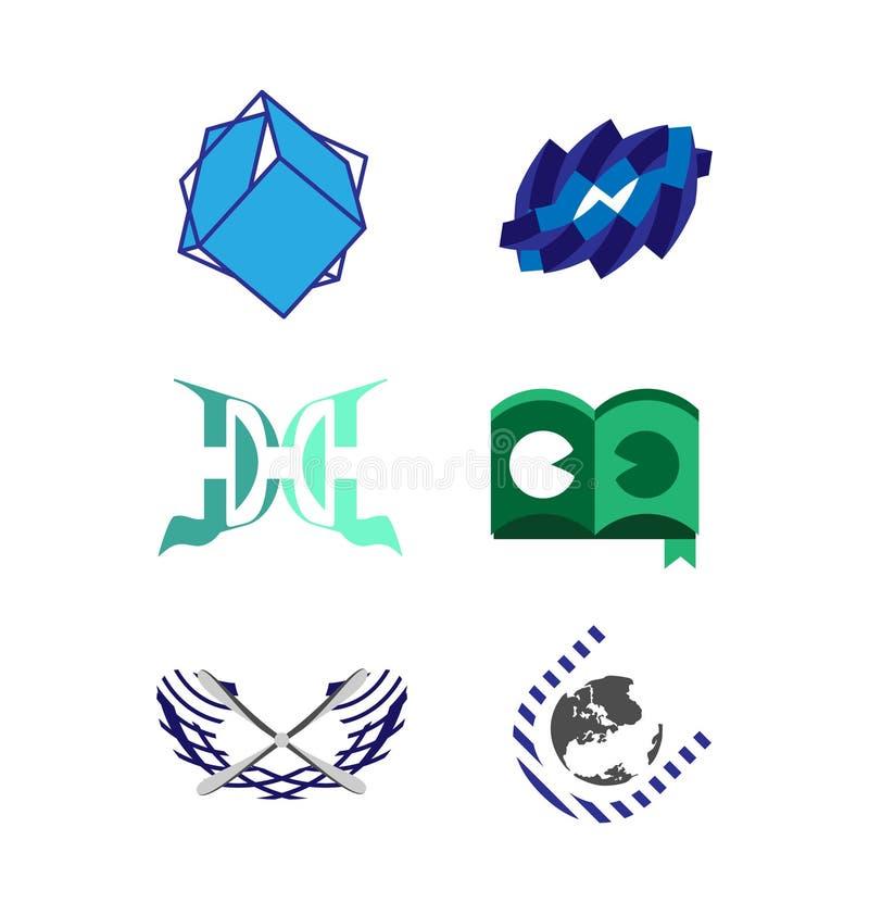 Διανυσματικό σύνολο λογότυπων ελεύθερη απεικόνιση δικαιώματος