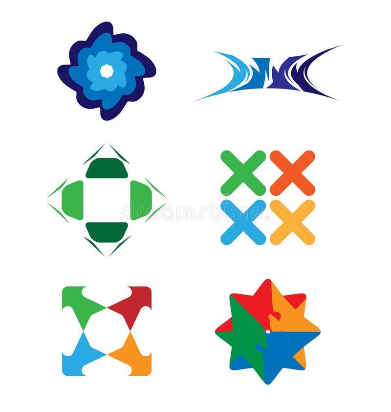 Διανυσματικό σύνολο λογότυπων απεικόνιση αποθεμάτων