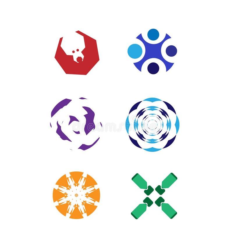 Διανυσματικό σύνολο λογότυπων διανυσματική απεικόνιση
