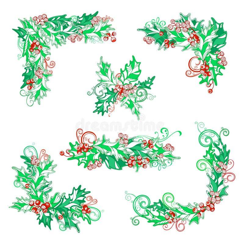 Download Διανυσματικό σύνολο στοιχείων σχεδίου μούρων ελαιόπρινου Διανυσματική απεικόνιση - εικονογραφία από φύλλο, πράσινος: 62720410