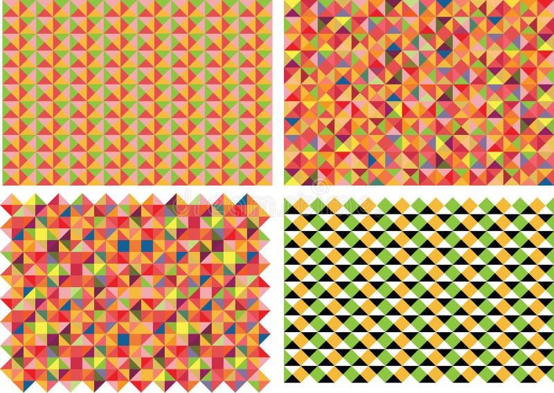 Διανυσματικό σύνολο τεσσάρων σχεδίων στοκ εικόνες