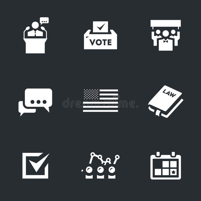 Διανυσματικό σύνολο ψηφοφορίας και εκλογών ελεύθερη απεικόνιση δικαιώματος