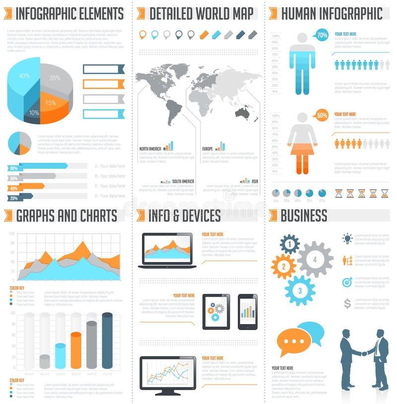 Διανυσματικό σύνολο infographics διανυσματική απεικόνιση