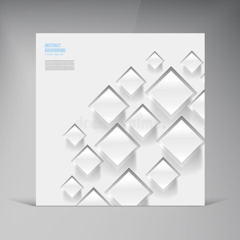 Διανυσματικό τετράγωνο. Αφηρημένη σκιά καρτών υποβάθρου διανυσματική απεικόνιση