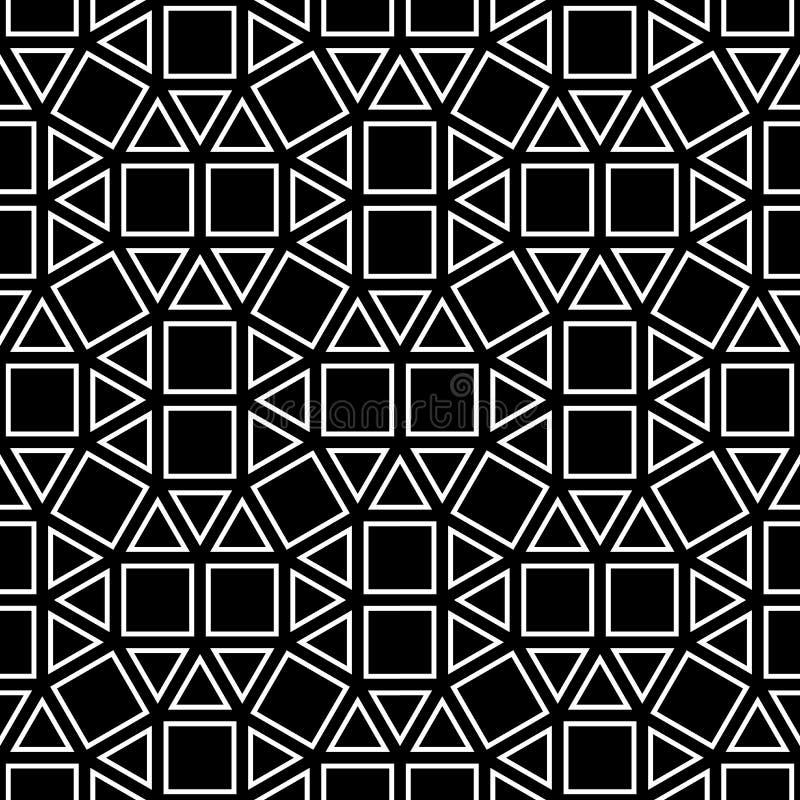 Διανυσματικό τετραγωνικό, γραπτό άνευ ραφής γεωμετρικό υπόβαθρο σχεδίων γεωμετρίας hipster αφηρημένο, λεπτό μαξιλάρι και κακή τυπ ελεύθερη απεικόνιση δικαιώματος