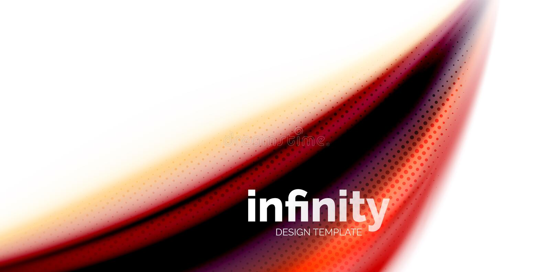 Διανυσματικό τρισδιάστατο ρευστό υπόβαθρο κυμάτων χρωμάτων, ρέοντας αφηρημένη μορφή με τη διαστιγμένη σύσταση, μικτά υγρό χρώματα διανυσματική απεικόνιση
