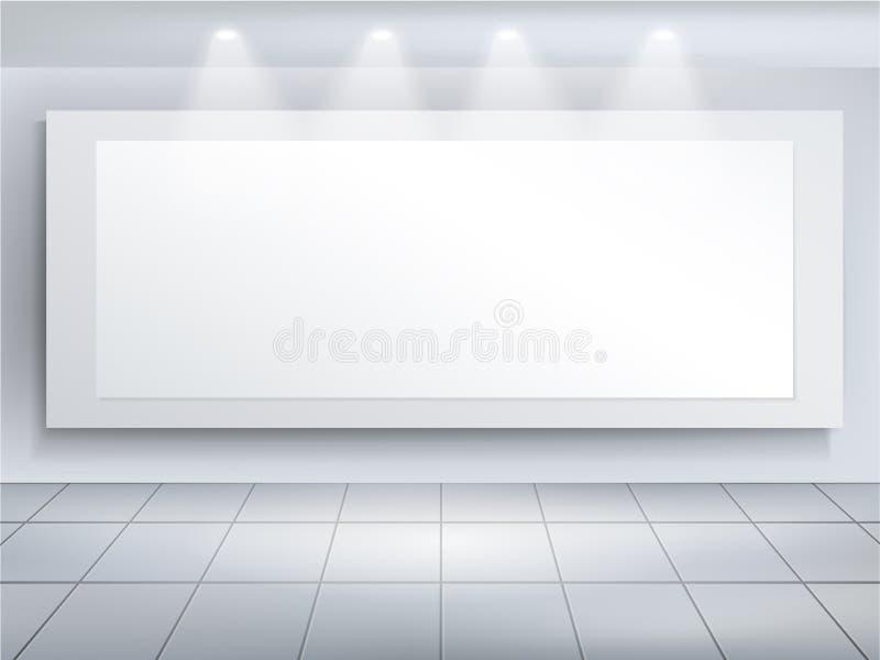 Διανυσματικό τρισδιάστατο κενό πρότυπο πινάκων διαφημίσεων ελεύθερη απεικόνιση δικαιώματος