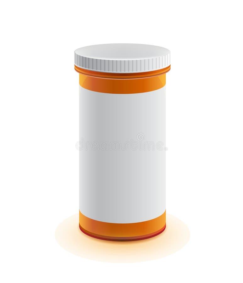 Διανυσματικό τρισδιάστατο ρεαλιστικό μπουκάλι ιατρικής για τα μαξιλάρια απεικόνιση αποθεμάτων