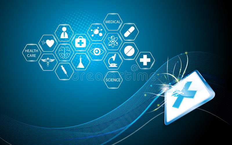 Διανυσματικό υπόβαθρο έννοιας αφηρημένων ιατρικό και τεχνολογίας απεικόνιση αποθεμάτων