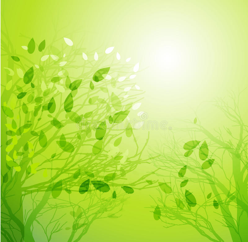 Αφηρημένο υπόβαθρο δέντρων άνοιξη ελεύθερη απεικόνιση δικαιώματος