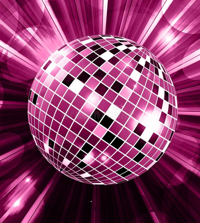 Διανυσματικό υπόβαθρο κομμάτων σφαιρών Disco με το διάνυσμα ακτίνων απεικόνιση αποθεμάτων