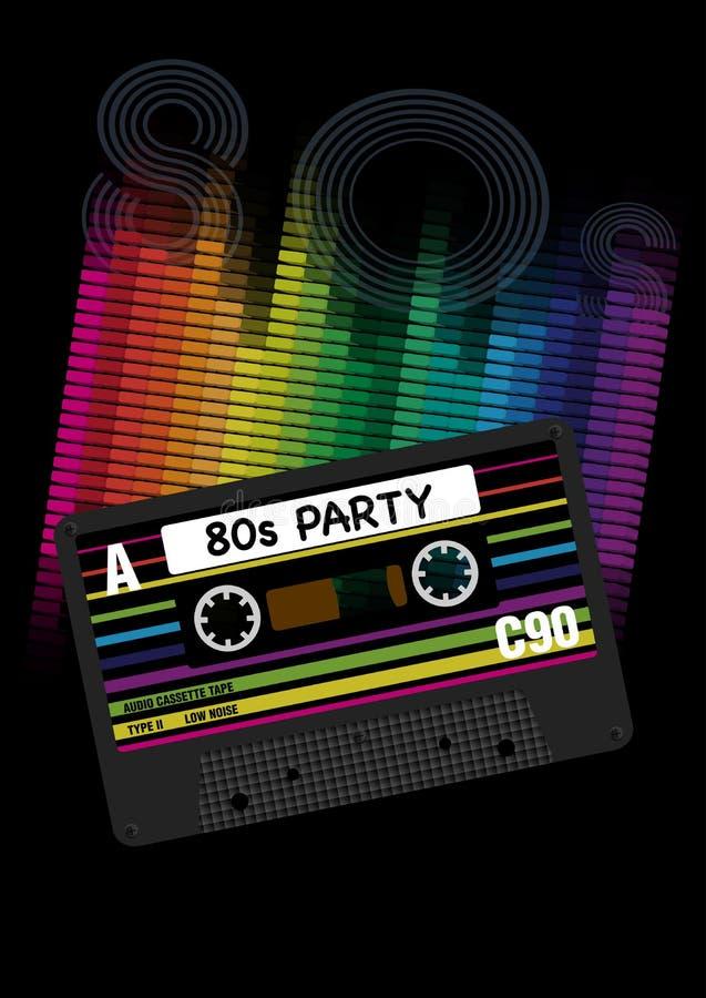 Διανυσματικό υπόβαθρο κόμματος της δεκαετίας του '80 απεικόνιση αποθεμάτων