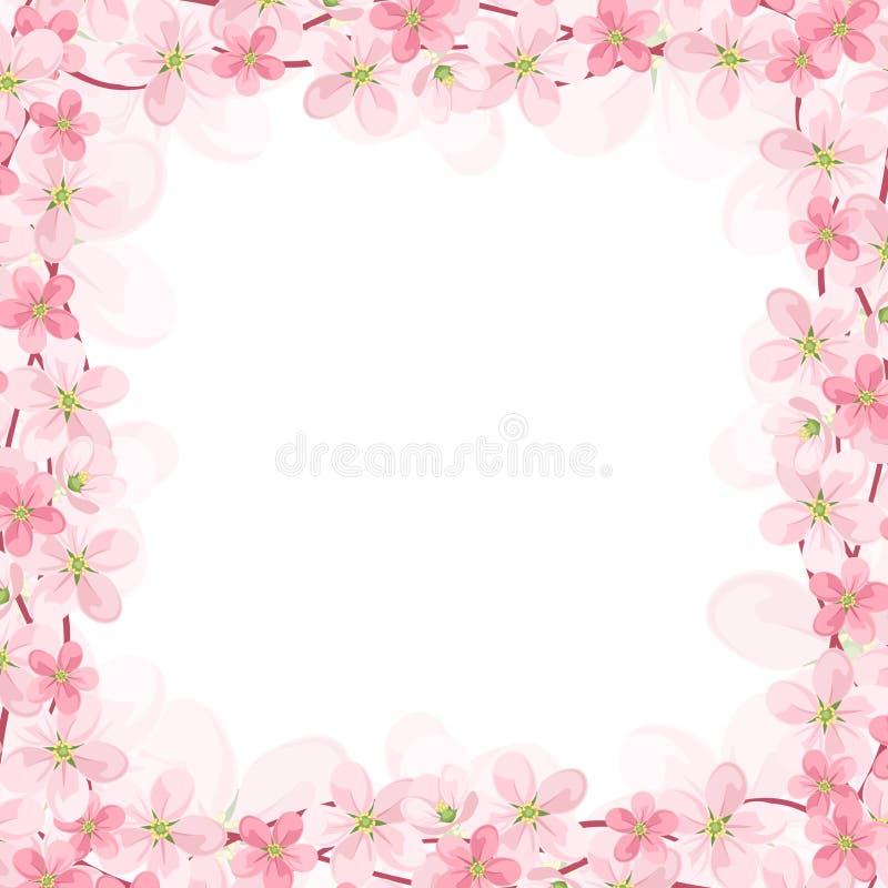 Διανυσματικό υπόβαθρο με τα ρόδινα λουλούδια. Διάνυσμα eps-10 διανυσματική απεικόνιση