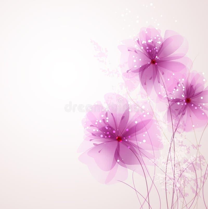 Διανυσματικό υπόβαθρο με τα λουλούδια απεικόνιση αποθεμάτων