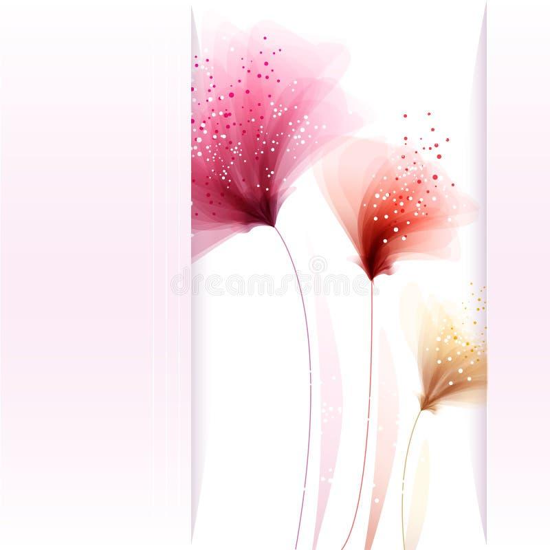 Διανυσματικό υπόβαθρο με το λουλούδι 96 ελεύθερη απεικόνιση δικαιώματος