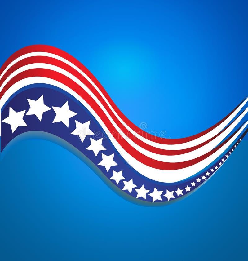 Διανυσματικό υπόβαθρο στοιχείων σχεδίου λωρίδων λογότυπων σημαιών ΑΜΕΡΙΚΑΝΙΚΩΝ αστεριών διανυσματική απεικόνιση